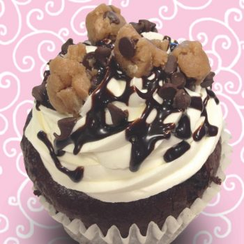 Loaded Cookie Dough Jumbo Filled Cupcake