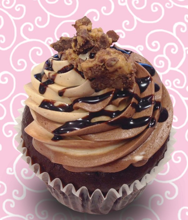 Peanut Butter Cup Jumbo Filled Cupcake – Classy Girl Cupcakes