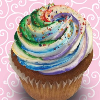 Rainbow Jumbo Filled Cupcake