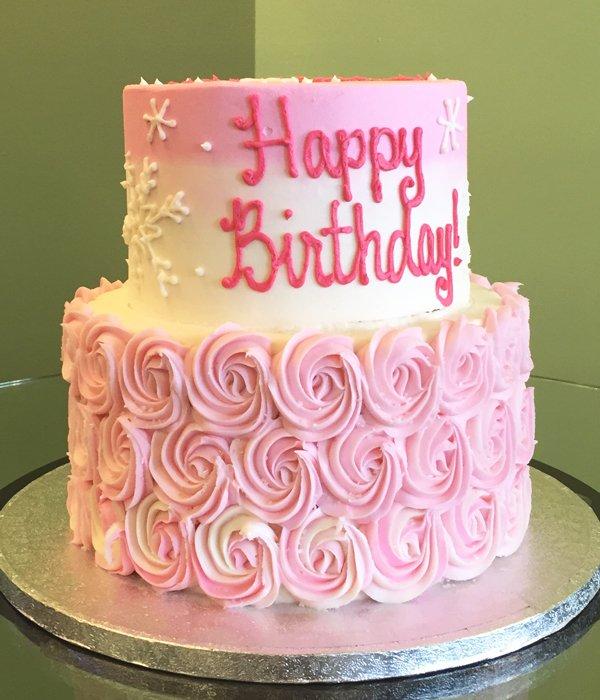 rosette tier cake