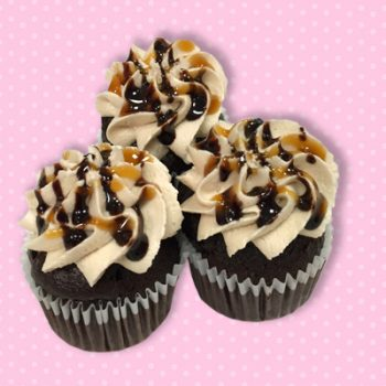 Salted Caramel Fudge Mini Cupcake