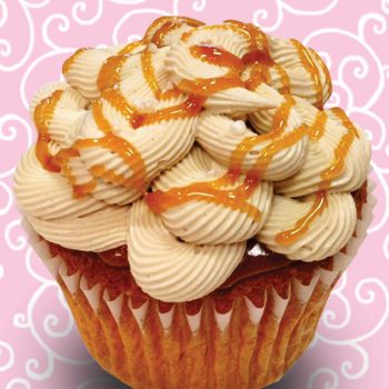 Sea Salt Caramel Jumbo Filled Cupcake