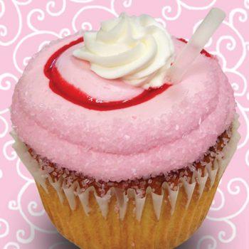 Strawberry Malt Jumbo Filled Cupcake