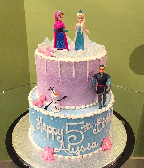 Frozen Tiered Cake