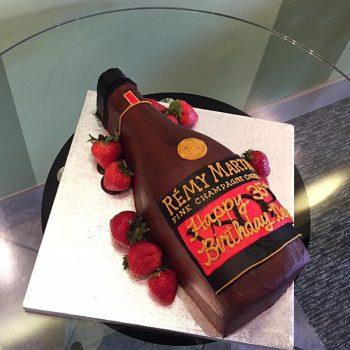 Whiskey Bottle Shaped Cake - Rémy Martin