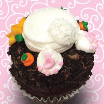 Bunny Bottom Jumbo Filled Cupcake