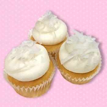 Coconut Cream Mini Cupcakes