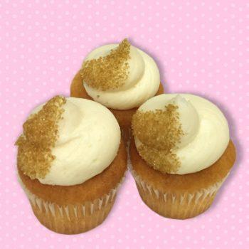 Golden Eggnog Mini Cupcakes