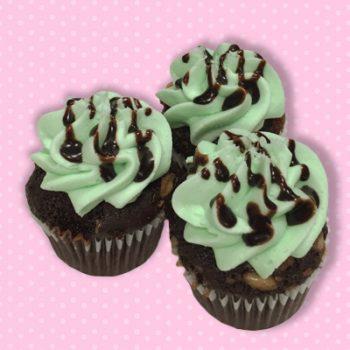 Grasshopper Mint Mini Cupcakes