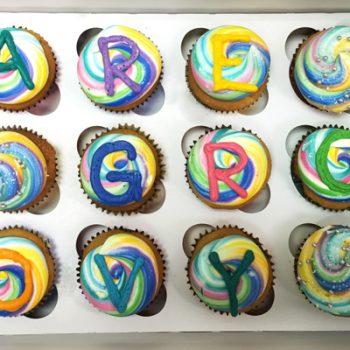 Rainbow Decorated Cupcakes - Groovy