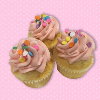 Strawberry Lemonade Mini Cupcakes
