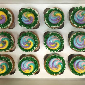 Unicorn Poo Decorated Cupcakes