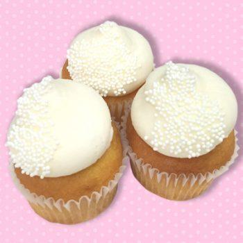 White Wedding Cake Mini Cupcakes