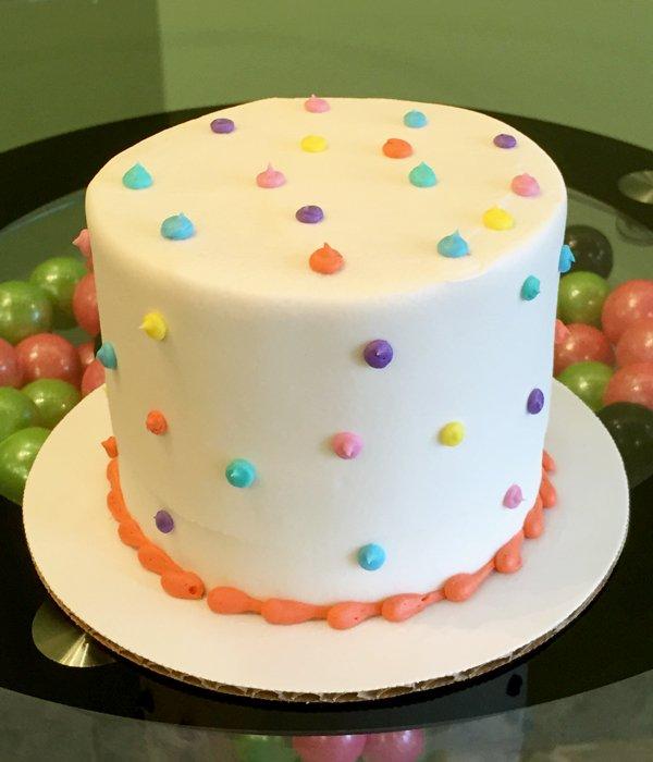 Confetti Dot Layer Cake