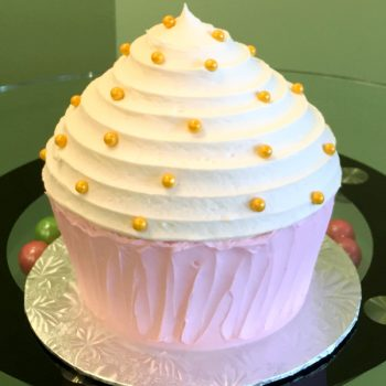 Giant Cupcake Cake - Pink & Gold