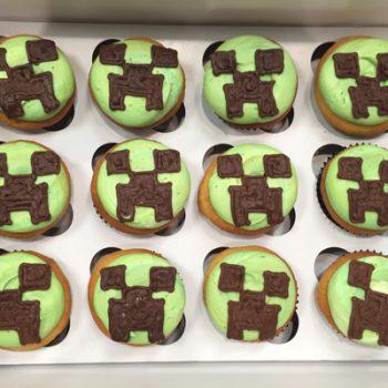 Minecraft Decorated Cupcakes