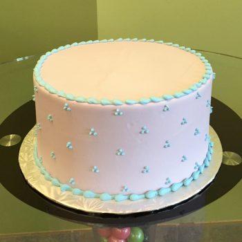 Swiss Dot Layer Cake - Blue & White
