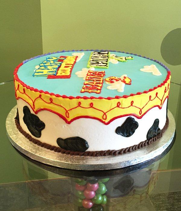 Toy Story Layer Cake - Woody/Jessie