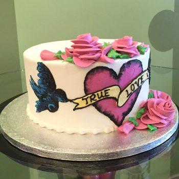 Kat Tattoo Layer Cake - Side