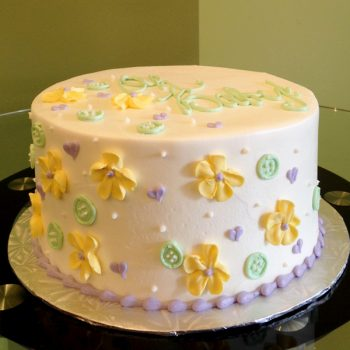 Baby Buttons Layer Cake