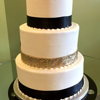 Ribbon Wedding Cake