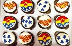 Superhero Decorated Cupcakes