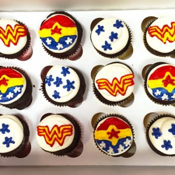 Superhero Decorated Cupcakes