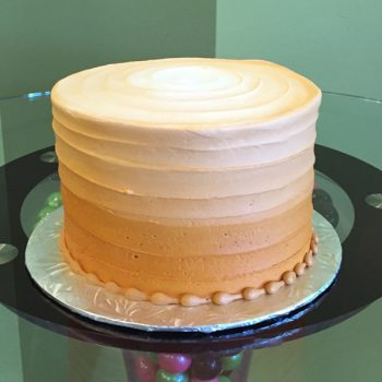 Anabelle Ombre Layer Cake - Orange