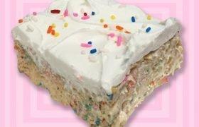 Birthday Cake Rice Crispy Treat