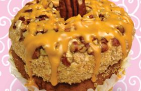 Butterscotch Pecan Pie Jumbo Filled Cupcake
