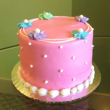 Drop Flower Layer Cake - Bright Pink