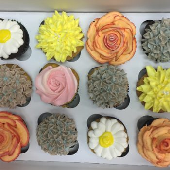 Assorted Flower Cupcakes - Assorted Colors