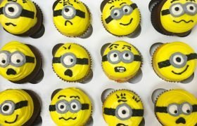 Smiley Face Decorated Cupcakes
