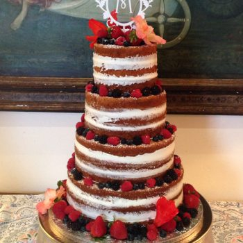 Naked Wedding Cake - 4 Layer