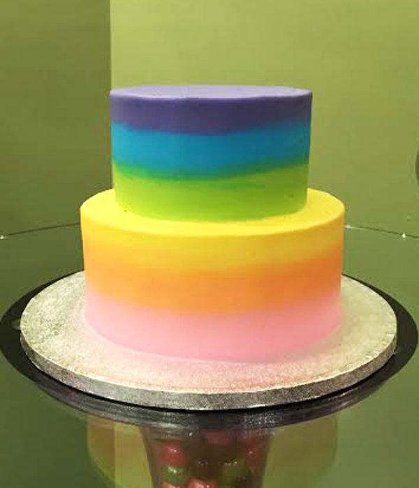 Pastel Rainbow Birthday Cakes