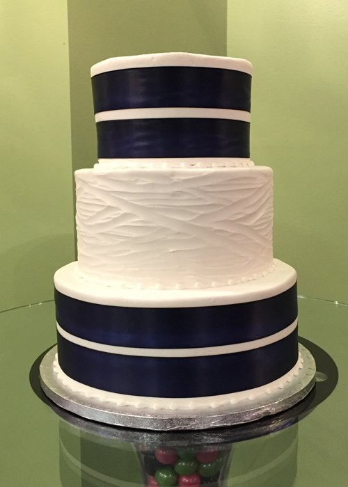 Ribbon Wedding Cake - Double