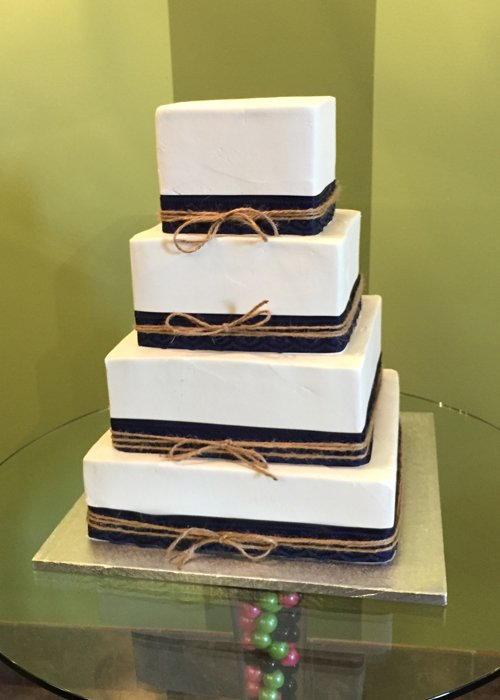 Ribbon Wedding Cake - Square