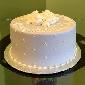 Rose Layer Cake - Grey