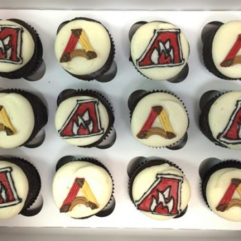 University Logo Decorated Cupcakes - Alverno