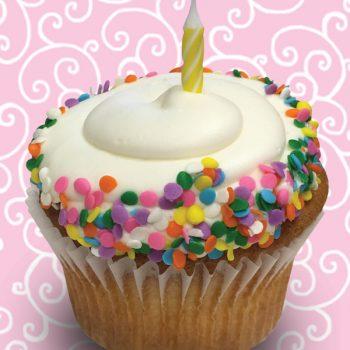 Vanilla Birthday Cake Jumbo Filled Cupcake