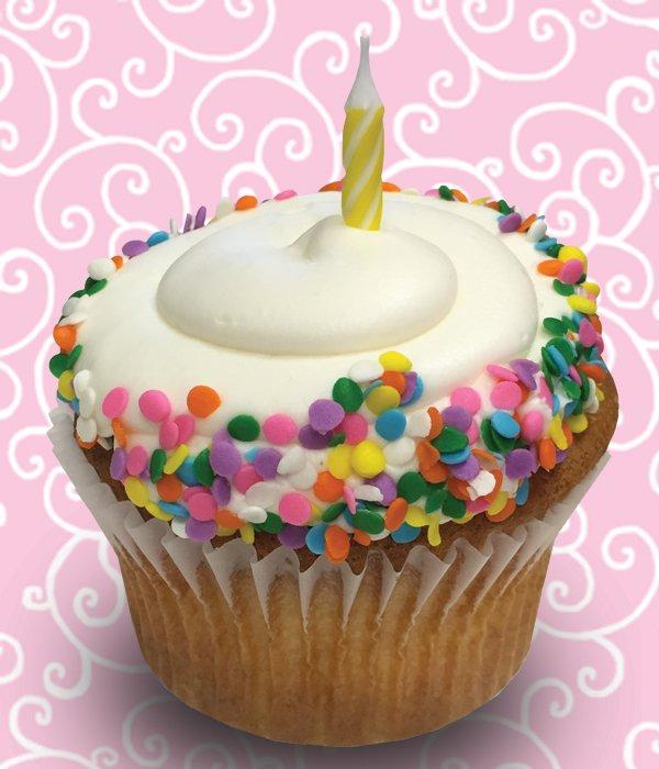 Birthday Cake Jumbo Filled Cupcake – Classy Girl Cupcakes