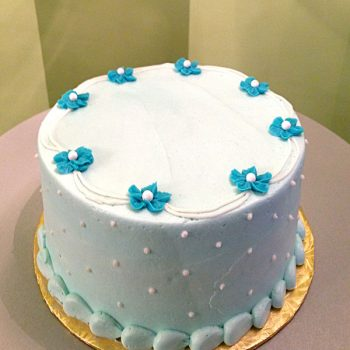 Drop Flower Layer Cake - Blue