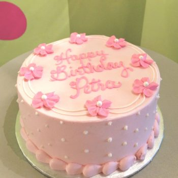 Drop Flower Layer Cake - Pink