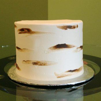 Birch Bark Layer Cake - Brown