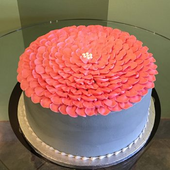 Flower Petal Layer Cake - Grey & Pink
