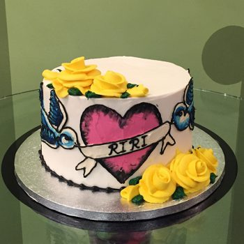 Kat Tattoo Layer Cake - Yellow