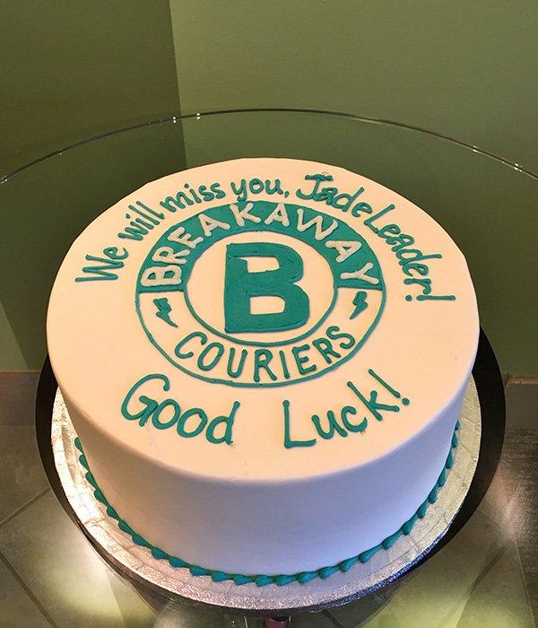 Company Logo Layer Cake - Breakaway Couriers