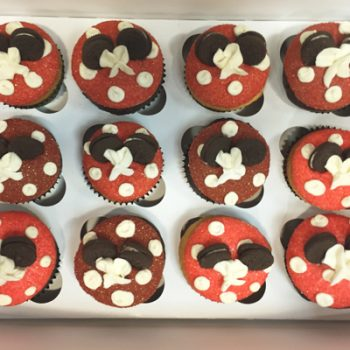 Mouse Ear Cupcakes - Red & White