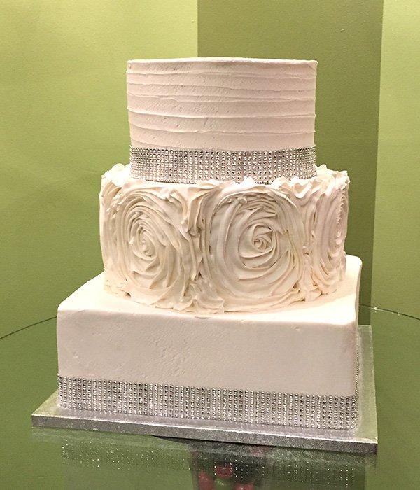 Lisette Wedding Cake - Square