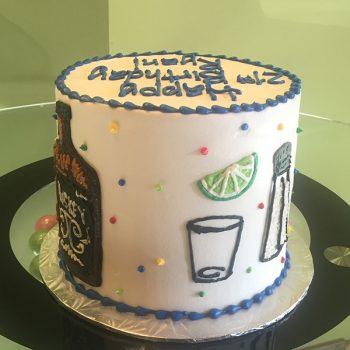 21st Birthday Layer Cake - Back